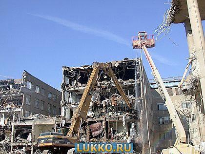 демонтажа здания и дома